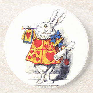 Alice in Wonderland The White Rabbit by Tenniel Coaster