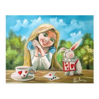 Alice in wonderland the white rabbit Gordon Bruce Postcard