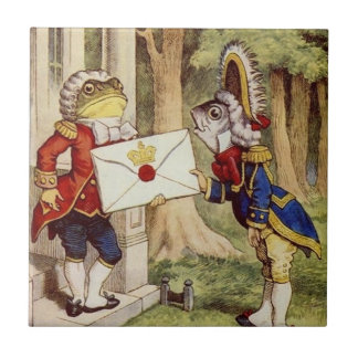 Alice in Wonderland Tile, The Footmen Tile