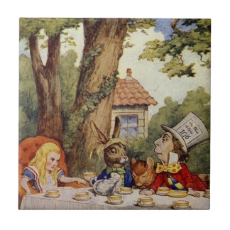 Alice in Wonderland Tile, The Tea Party Tile