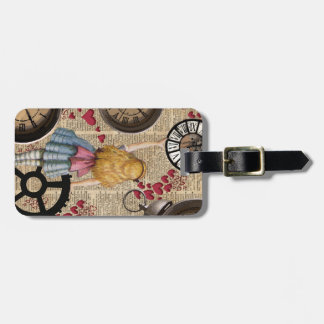Alice In Wonderland Travelling in Time Luggage Tag