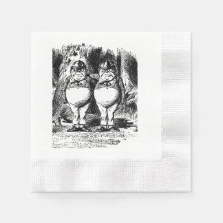 alice in wonderland Tweedle Dee and Dum napkin Disposable Serviettes