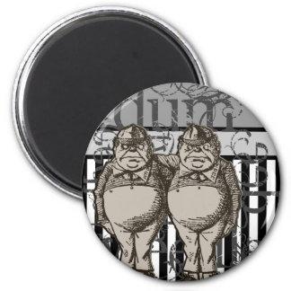 Alice In Wonderland Tweedledum & Tweedledee Grunge Fridge Magnet