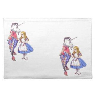 Alice in Wonderland & Unicorn placemat