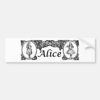 Alice in Wonderland Vintage Frame Bumper Sticker