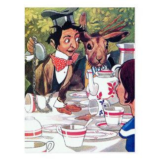 Alice in Wonderland Vintage Illustration Postcard