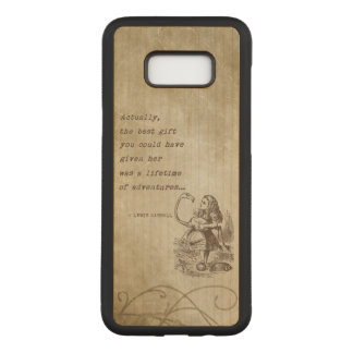 Alice In Wonderland W/Flamingo Adventure Quote Carved Samsung Galaxy S8+ Case