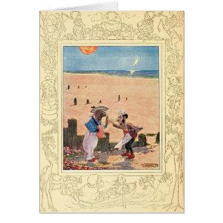 Alice in Wonderland, Walrus and Carpenter Card