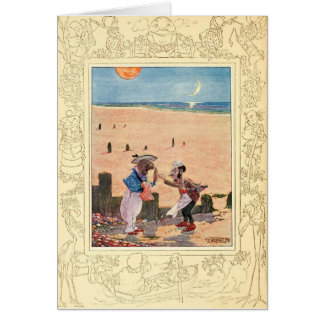 Alice in Wonderland, Walrus and Carpenter Greeting Card