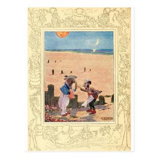 Alice in Wonderland, Walrus and Carpenter Postcard