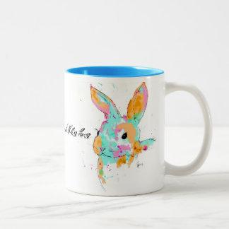 Alice in Wonderland water colour designs Two-Tone Coffee Mug