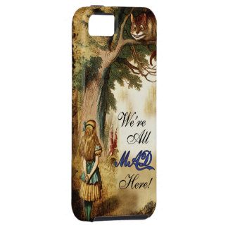 Alice in Wonderland We're all mad here iPhone 5 Case