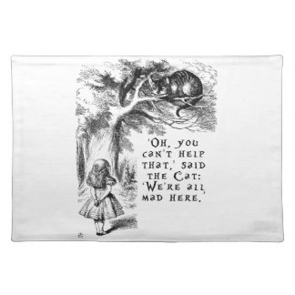 Alice in Wonderland - We're all mad here Placemat