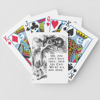 Alice in Wonderland - We're all mad here Poker Deck