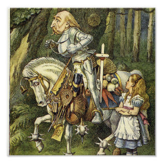 Alice in Wonderland White Knight Print