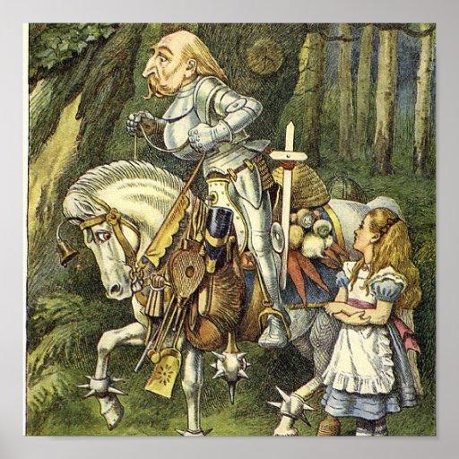 Alice in Wonderland White Knight Print