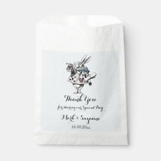 Alice in Wonderland White Rabbit Art Favour Bag