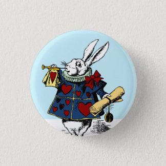 Alice in Wonderland White Rabbit Button Style #1