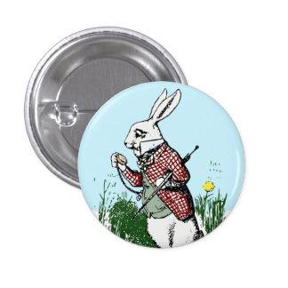 Alice in Wonderland White Rabbit Button Style 2