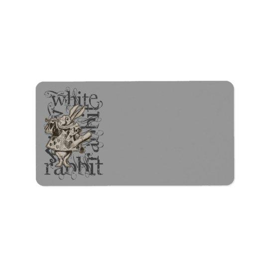 Alice In Wonderland White Rabbit Grunge Address Label
