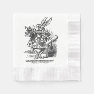 alice in wonderland white rabbit napkin paper napkin