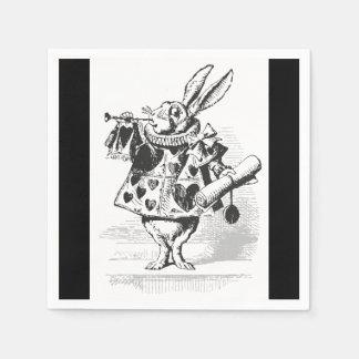 Alice in Wonderland White Rabbit Paper Napkins