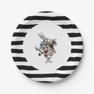 Alice in Wonderland White Rabbit Paper Plate