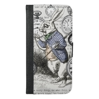 Alice in Wonderland White Rabbit Time iPhone 6/6s Plus Wallet Case
