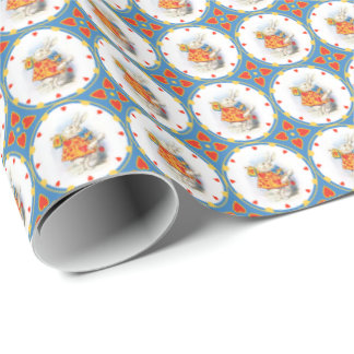 Alice in Wonderland White Rabbit Wrapping Paper