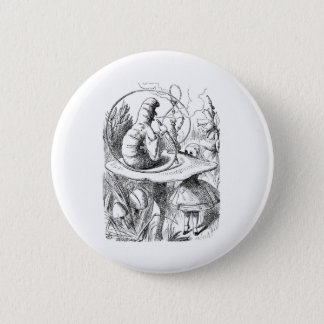 Alice in Wonderland: Who are You? Caterpillar 6 Cm Round Badge