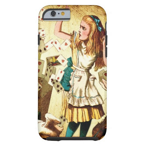 Alice in Wonderland with Playing Cards iPhone 6 Case