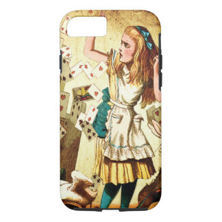 Alice in Wonderland with Playing Cards iPhone 7 Case