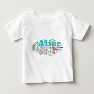 Alice in Wonderland Word Cloud Baby T-Shirt