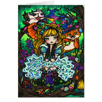 """Alice Lost"" Alice in Wonderland Cheshire Cat Card"