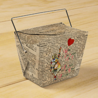 Alice,Mad Hatter &Rabbit Vintage Collage Quote Favour Box