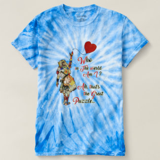 Alice,Mad Hatter &Rabbit Vintage Collage Quote T-Shirt
