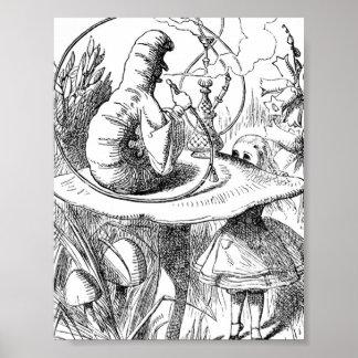 Alice Meets the Caterpillar - Alice in Wonderland Poster