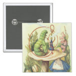 Alice Meets the Caterpillar Pinback Buttons