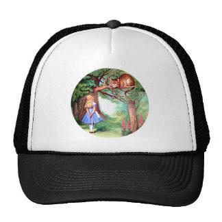Alice Meets the Cheshire Cat in Wonderland Cap