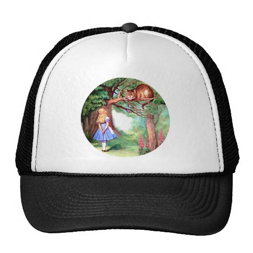 Alice Meets the Cheshire Cat in Wonderland Mesh Hat
