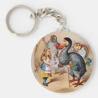 ALICE MEETS THE DODO BIRD KEY RING