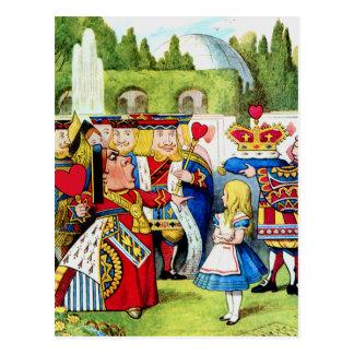 Alice Meets the Queen of Hearts in Wonderland Post Card