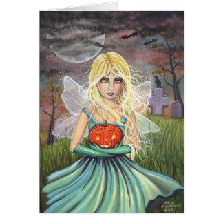 Alice on Halloween Fairy Card by Molly Harrison