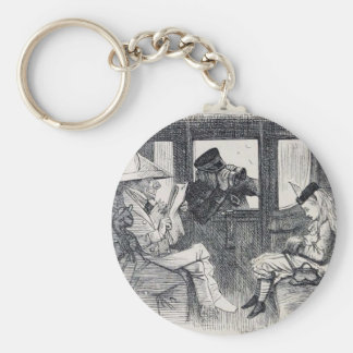 Alice on the Train Key Ring