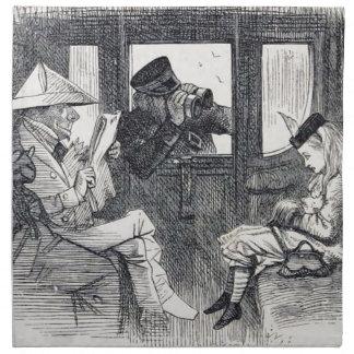 Alice on the Train Napkin
