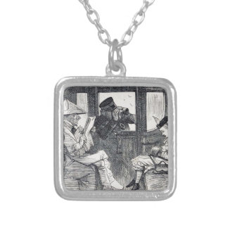 Alice on the Train Silver Plated Necklace