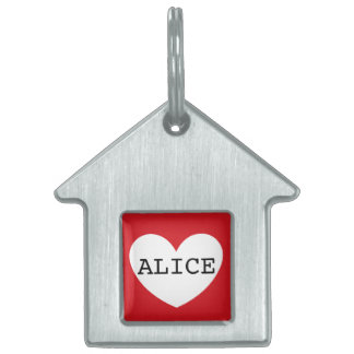 ❤️   ALICE pet tag by DAL
