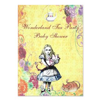 Alice & Pig Baby Wonderland Tea Party Baby Shower Cards