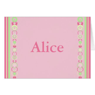 Alice Pink Modern Circles Card
