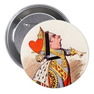 "Alice-Queen Of Hearts 2 - 3"" Button"